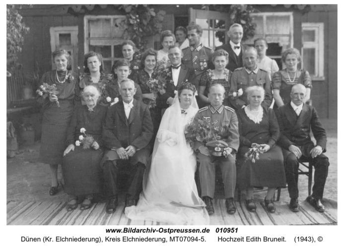 Dünen, Hochzeit Edith Bruneit
