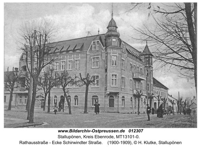 Stallupönen, Rathausstraße - Ecke Schirwindter Straße