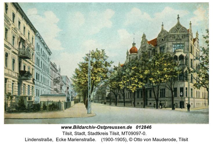 Tilsit, Lindenstraße,  Ecke Marienstraße