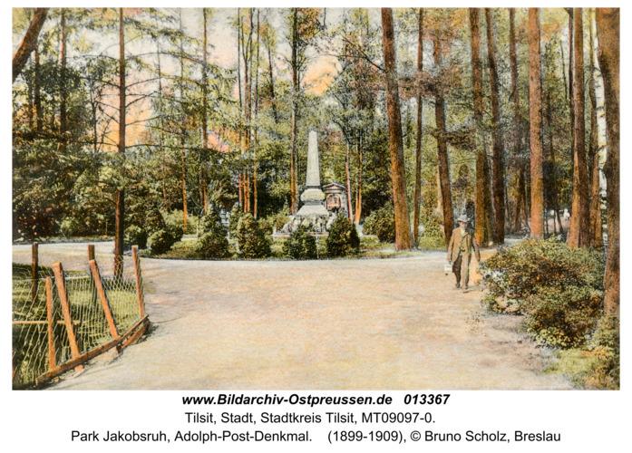 Tilsit, Park Jakobsruh, Adolph-Post-Denkmal