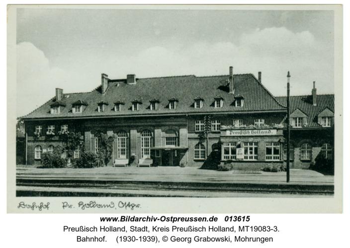 Preußisch Holland, Bahnhof