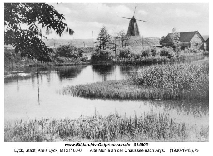 Lyck, Alte Mühle an der Chaussee nach Arys