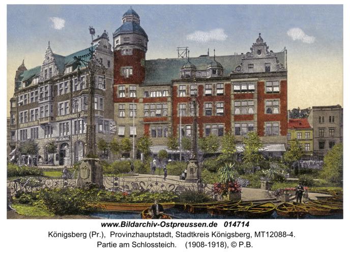 Königsberg, Partie am Schlossteich