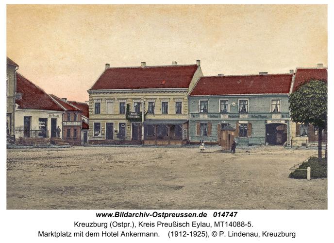 Kreuzburg, Marktplatz mit dem Hotel Ankermann