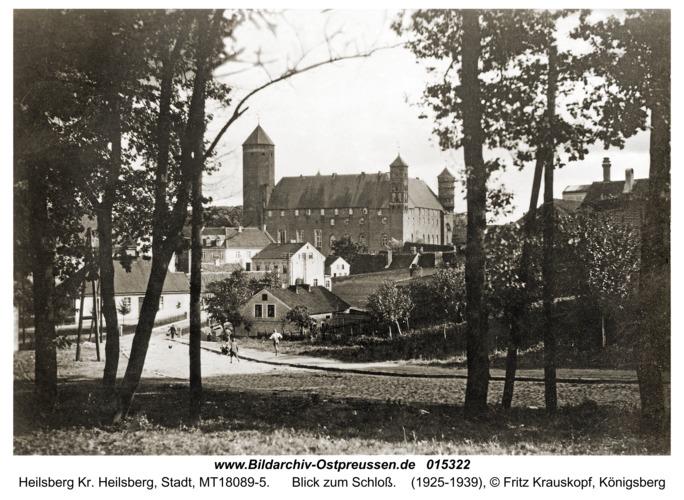 Heilsberg, Blick zum Schloß