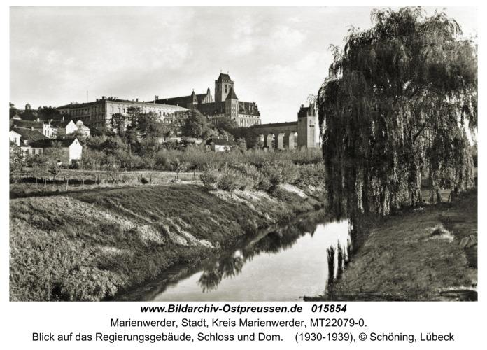 Marienwerder, Blick auf das Regierungsgebäude, Schloss und Dom