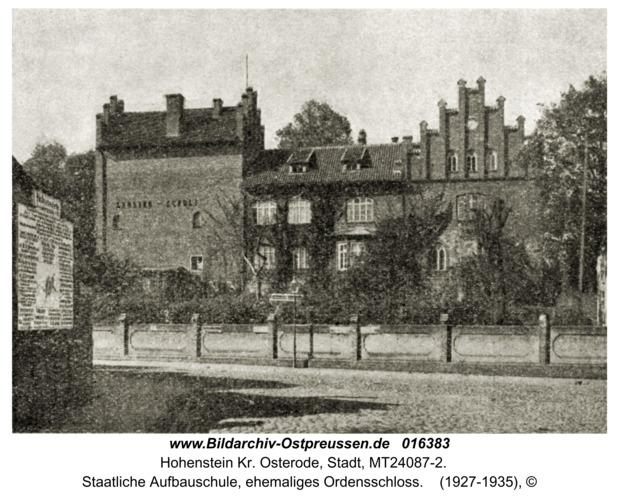 Hohenstein Kr. Osterode, Staatliche Aufbauschule, ehemaliges Ordensschloss