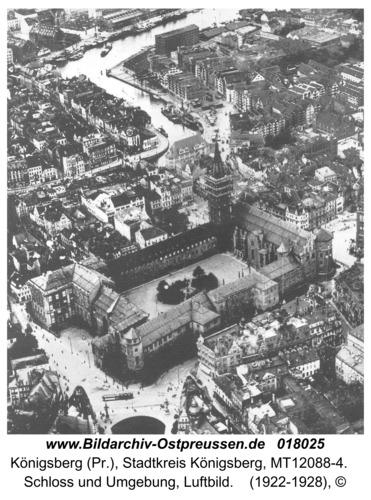 Königsberg, Schloss und Umgebung, Luftbild