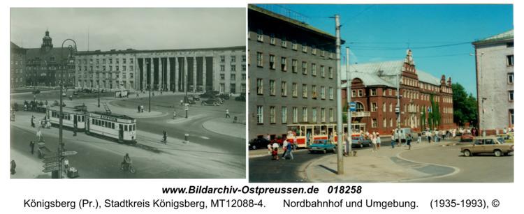 Königsberg, Nordbahnhof und Umgebung