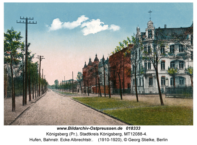 Königsberg, Hufen, Bahnstr. Ecke Albrechtstr.