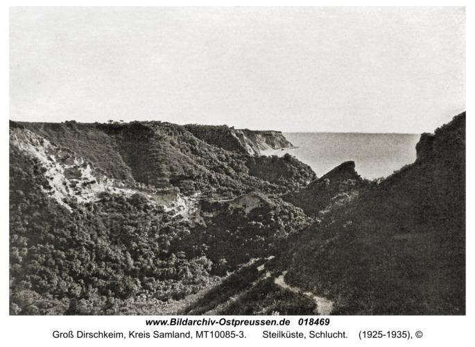 Groß Dirschkeim, Steilküste, Schlucht