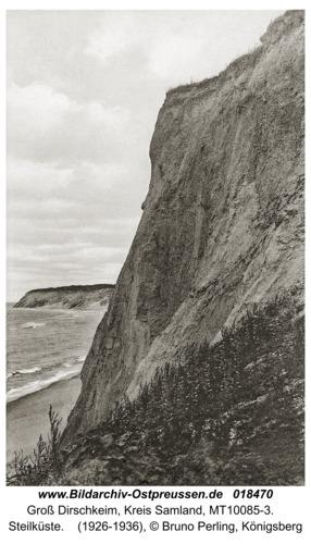 Groß Dirschkeim, Steilküste