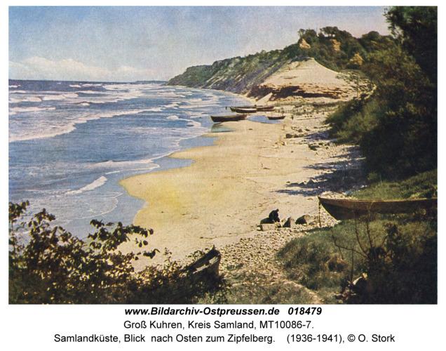 Groß Kuhren, Samlandküste, Blick nach Osten zum Zipfelberg