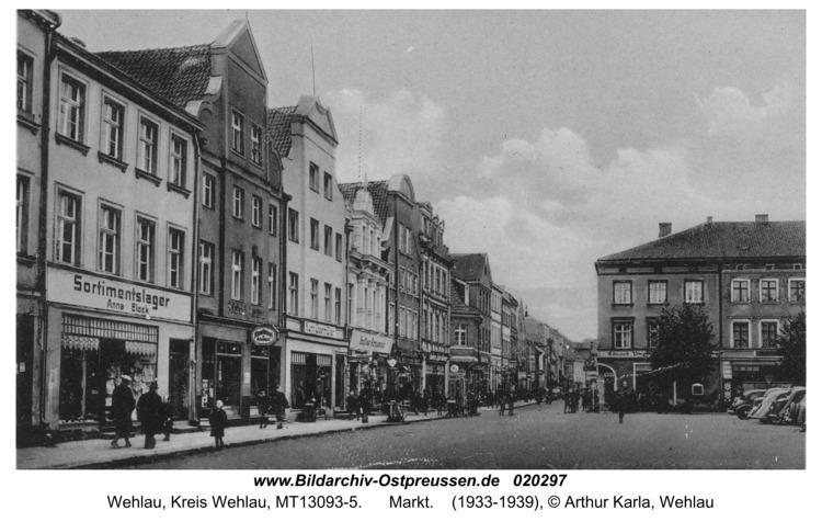 Wehlau, Markt