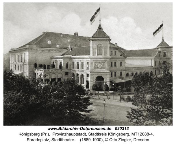 Königsberg (Pr.), Paradeplatz, Stadttheater