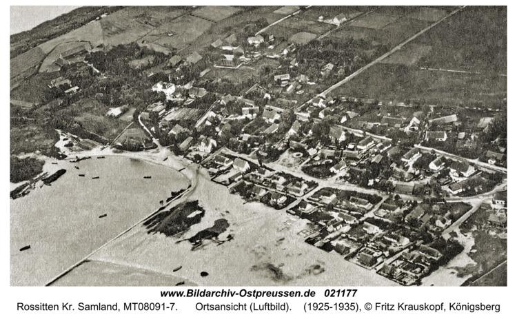 Rossitten Kr. Samland, Ortsansicht (Luftbild)