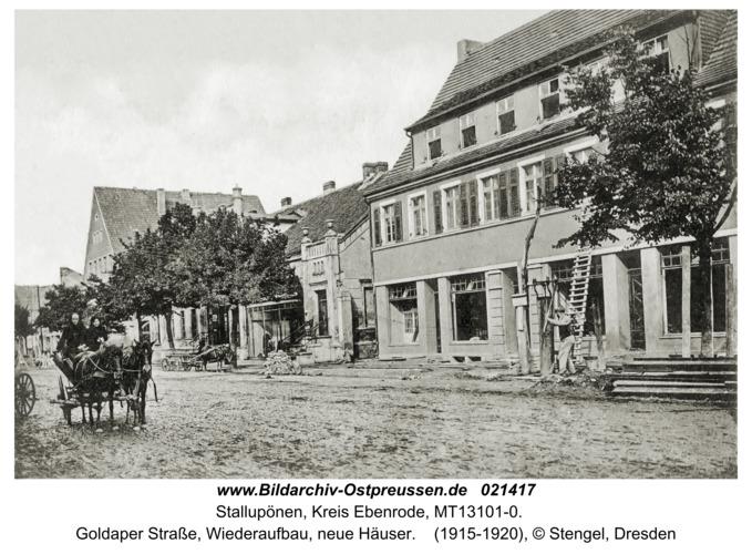Stallupönen, Goldaper Straße, Wiederaufbau, neue Häuser