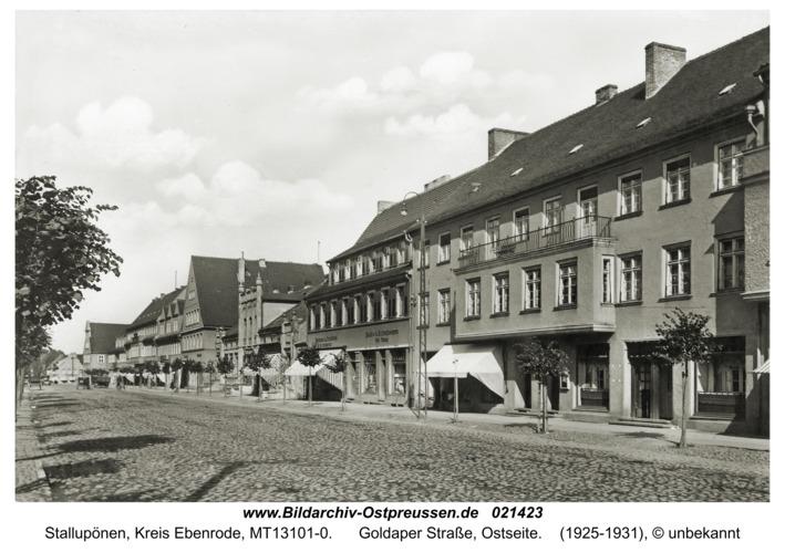 Stallupönen, Goldaper Straße, Ostseite