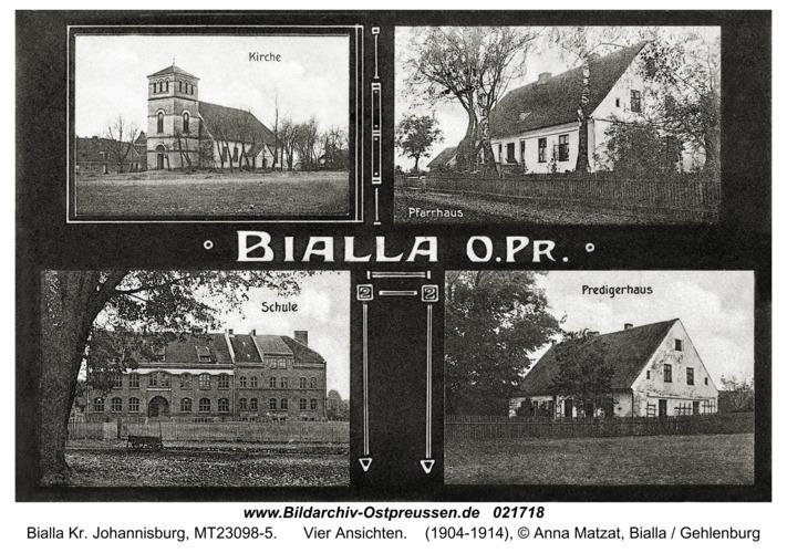 Bialla Kr. Johannisburg, vier Ansichten