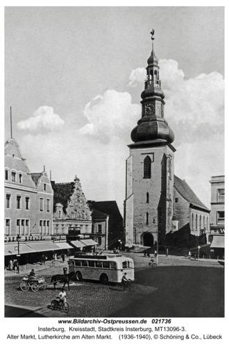 Insterburg, Alter Markt, Lutherkirche am Alten Markt
