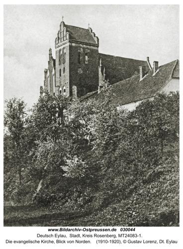 Deutsch Eylau, Die evangelische Kirche, Blick von Norden