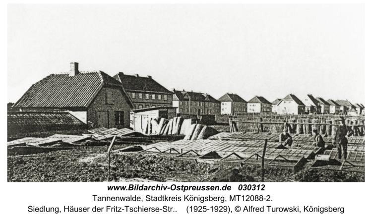 Tannenwalde Stadtkr. Königsberg, Siedlung, Häuser der Fritz-Tschierse-Str.
