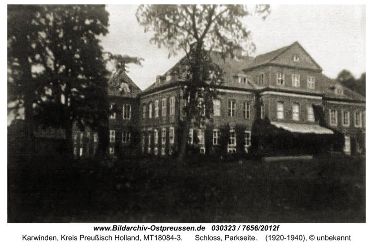 Karwinden, Schloss, Parkseite
