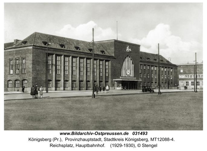 Königsberg (Pr.), Reichsplatz, Hauptbahnhof