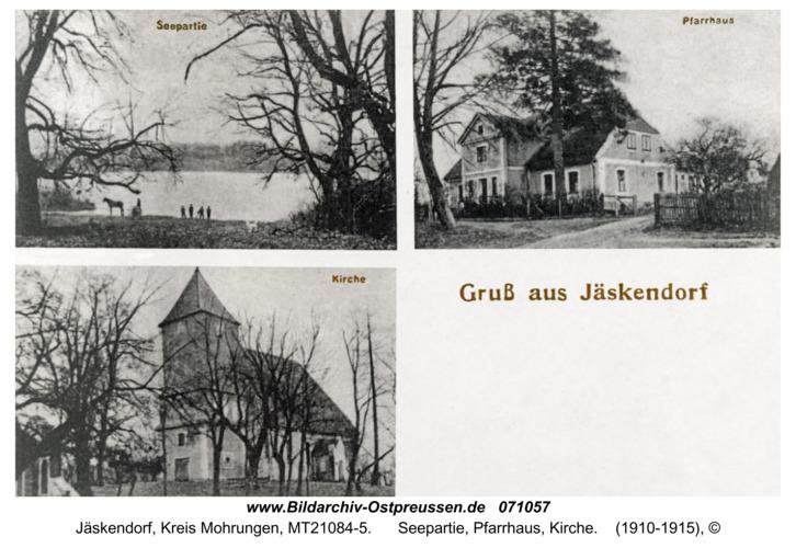 Jäskendorf, Seepartie, Pfarrhaus, Kirche