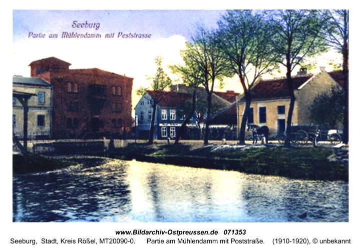 Seeburg, Partie am Mühlendamm mit Poststraße