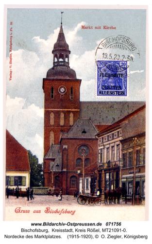 Bischofsburg, Nordecke des Marktplatzes