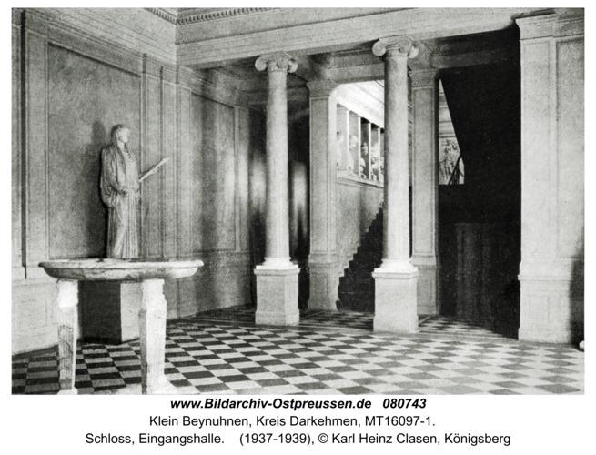 Klein Beynuhnen, Schloss, Eingangshalle