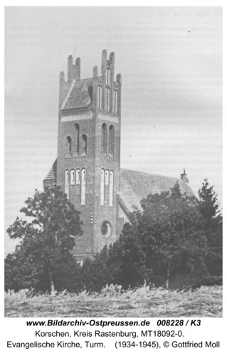 Korschen, evangelische Kirche, Turm