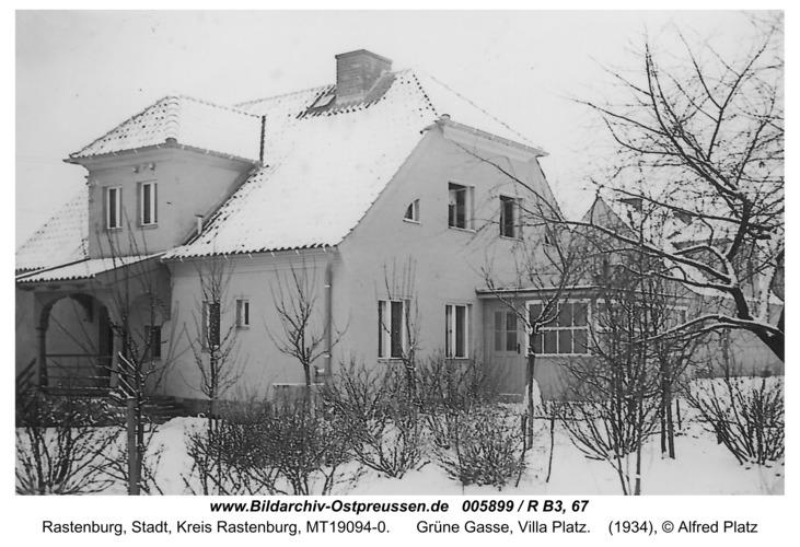 Rastenburg, Grüne Gasse, Villa Platz