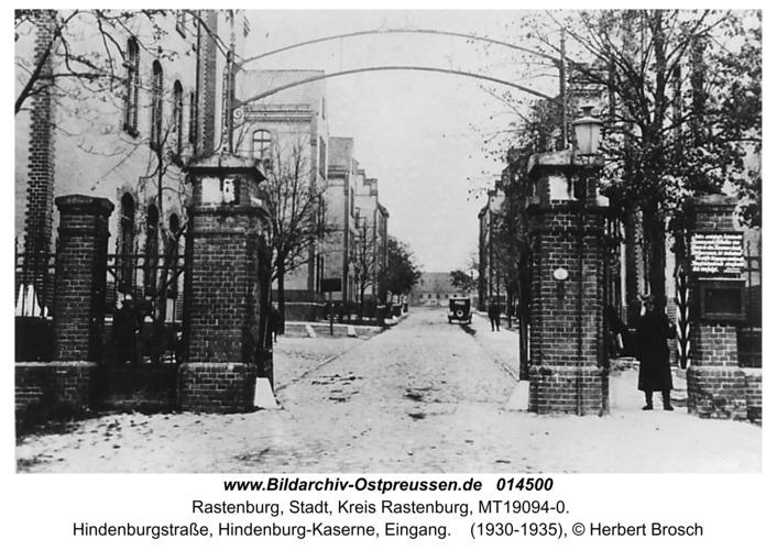 Rastenburg, Hindenburgstraße, Hindenburg-Kaserne, Eingang