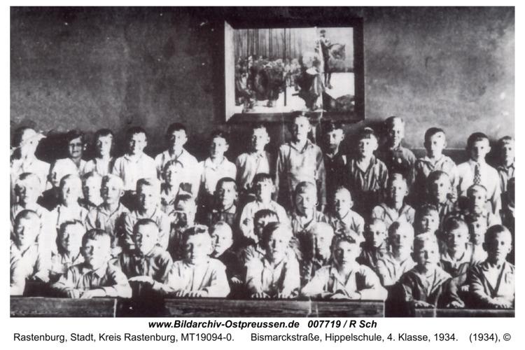 Rastenburg, Bismarckstraße, Hippelschule, 4. Klasse, 1934