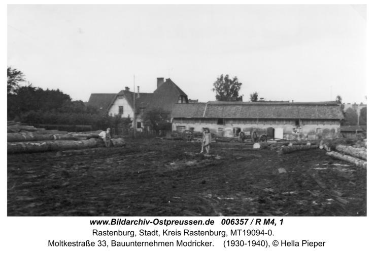 Rastenburg, Moltkestraße 33, Bauunternehmen Modricker