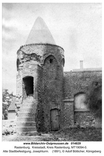 Rastenburg, Alte Stadtbefestigung, Josephturm