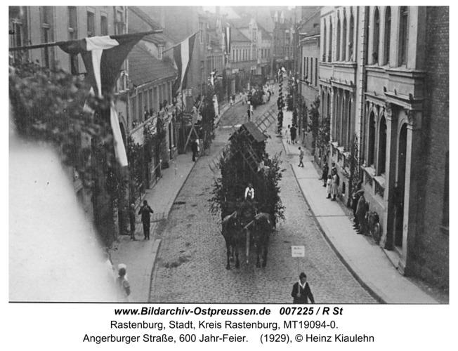 Rastenburg, Angerburger Straße, 600 Jahr-Feier