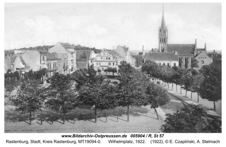 Rastenburg, Wilhelmplatz, 1922