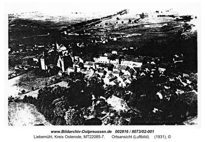 Liebemühl, Ortsansicht (Luftbild)