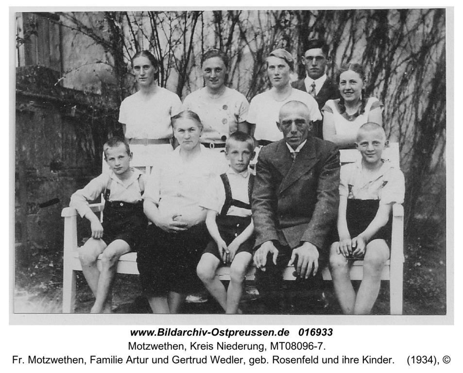 Motzwethen, fr. Motzwethen, Familie Artur und Gertrud Wedler, geb. Rosenfeld und ihre Kinder