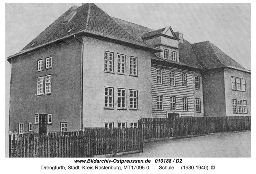 Drengfurt, Nordenburger Straße, Schule