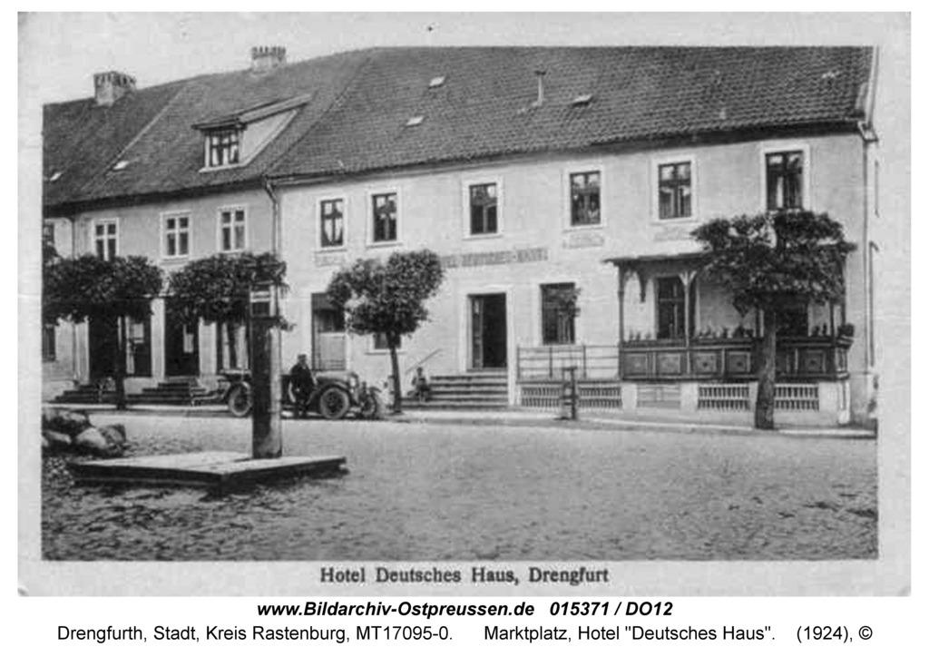 "Drengfurt, Marktplatz, Hotel ""Deutsches Haus"""
