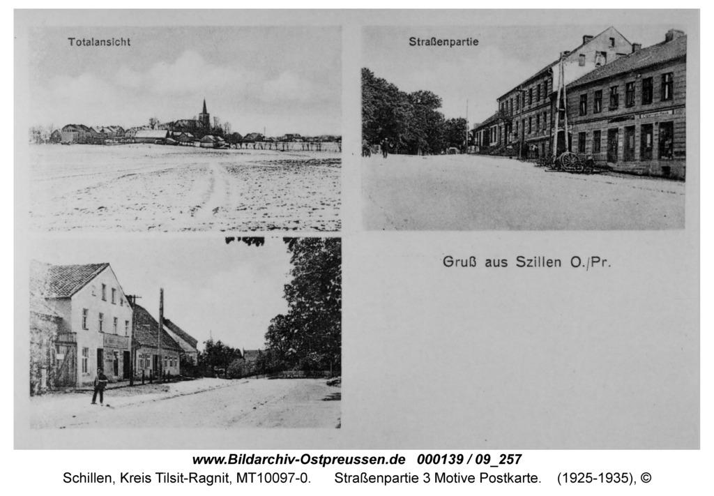 Schillen, Straßenpartie 3 Motive Postkarte