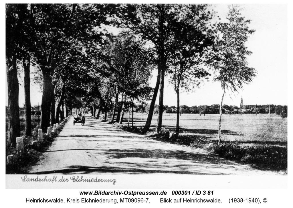 Heinrichswalde, Blick auf Heinrichswalde