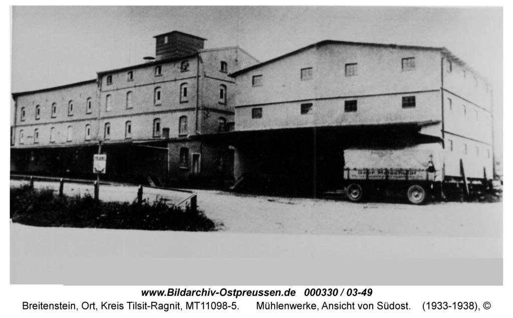 Breitenstein, Mühlenwerke, Ansicht von Südost