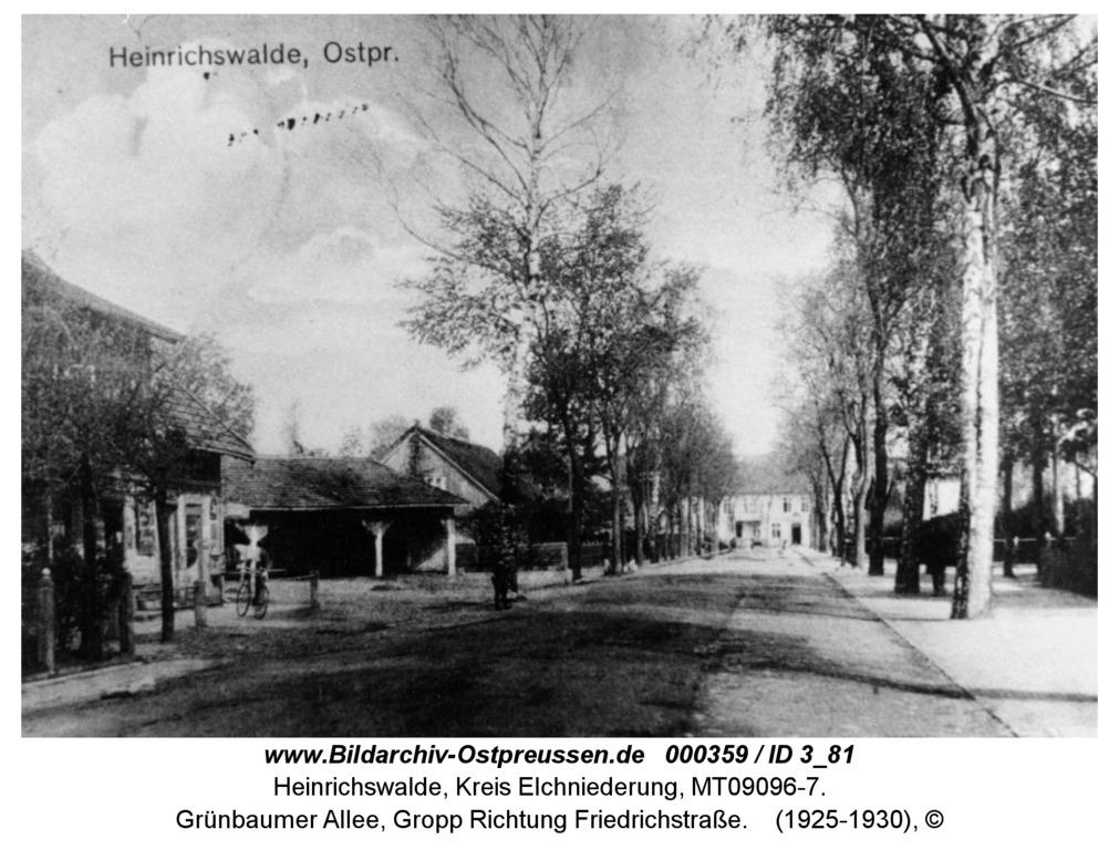 Heinrichswalde, Grünbaumer Allee, Gropp Richtung Friedrichstraße