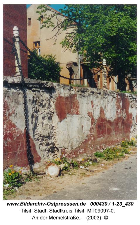 Tilsit, An der Memelstraße