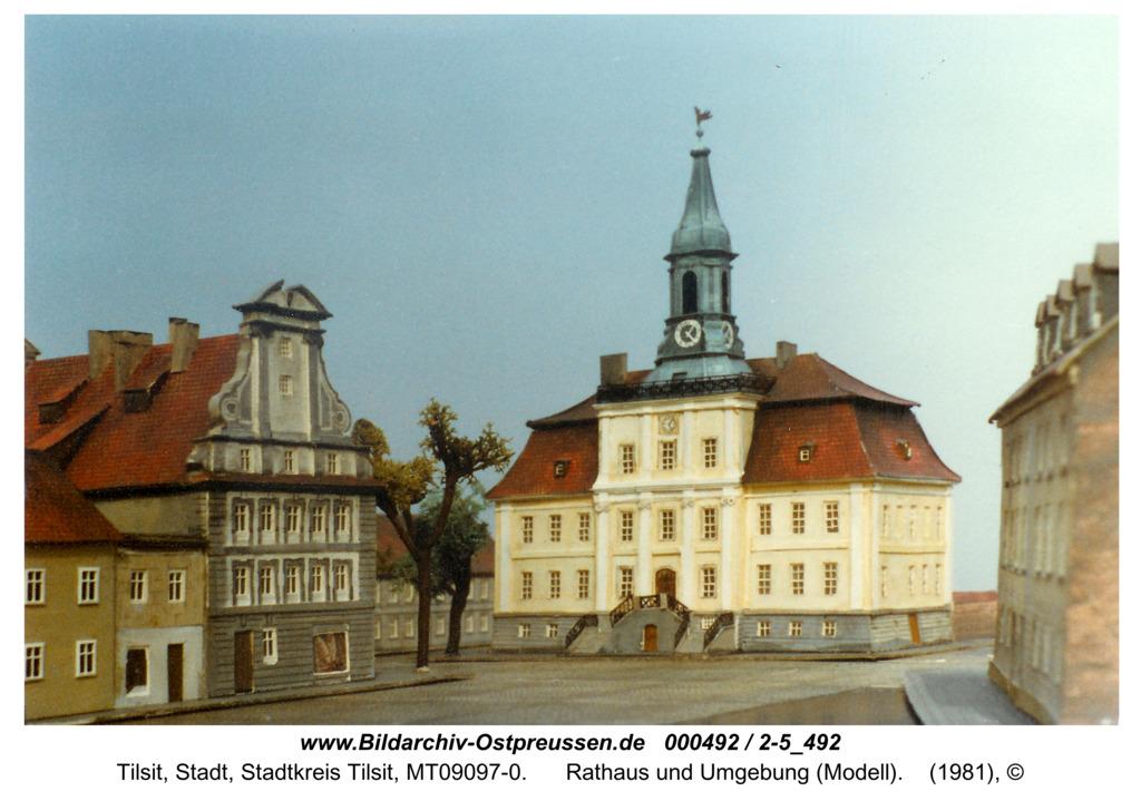 Tilsit, Rathaus und Umgebung (Modell)